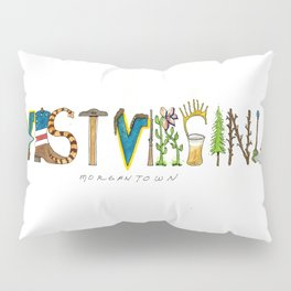 West Virginia - Morgantown Pillow Sham