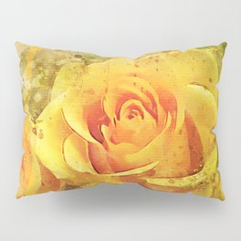 Watercolor Yellow Roses | High Quality On Stretched Canvas Pillow Sham