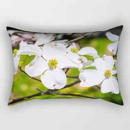 Dogwood Flowers Rectangular Pillow