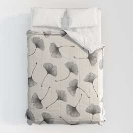 Ginkgo Leaves Cream Comforters