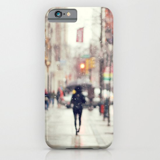 Snowing in the City iPhone & iPod Case