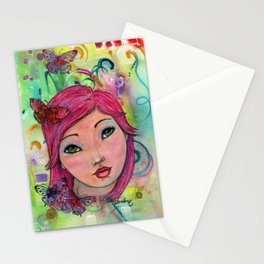 Oceana Whimsical Face Stationery Cards