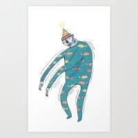 Shakey Fishman Art Print
