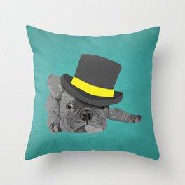 Dapper Dog - French Bulldog Throw Pillow
