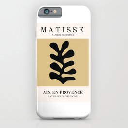 Henri matisse abstract leaf cutoff beige color wall art iPhone Case