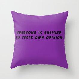Entitled Throw Pillow