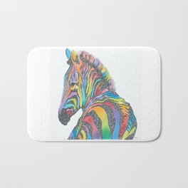 Rainbow Zebra Bath Mat