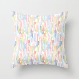 Abstract Brushstrokes - Pastels Throw Pillow