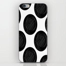 Riggo Monti Design #4 - Riggo Emblem Diagonal Pattern (Wht. Bkgrnd.) iPhone Skin