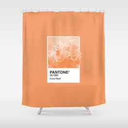 Pantone Series – Coral Reef Shower Curtain