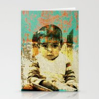 boy Stationery Cards featuring Boy by Lia Bernini