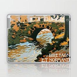 Bretagne et Normandie, French Travel Poster Laptop & iPad Skin