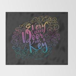 Every locked door has a key - Warcross Marie Lu Throw Blanket