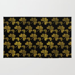 Irish Shamrock clover  pattern Rug
