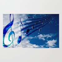 music notes Area & Throw Rugs featuring Music Notes by Svetlana Sewell