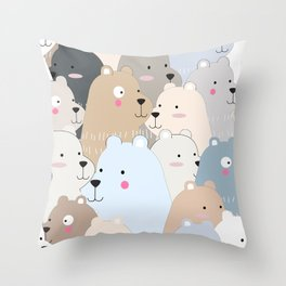 BEAR #10 Throw Pillow