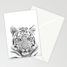 Black and white tiger Stationery Cards