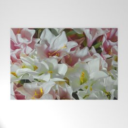 Pastel lilies Welcome Mat