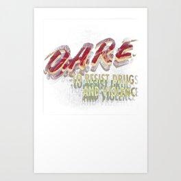 DARE (DOUBLE VISION) Art Print