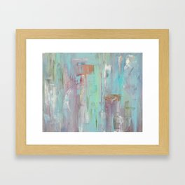 Mint Abstract Painting Framed Art Print