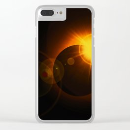 Total  Eclipse Astro Photography Clear iPhone Case
