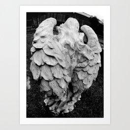 Angel's winged back Art Print