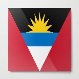 Antigua and Barbuda flag Metal Print