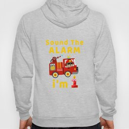 Fire Truck 1 Year Old Birthday T Shirt Gift Bear Kid Kids Hoody