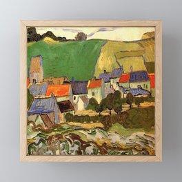 View of Auvers, Vincent van Gogh. Framed Mini Art Print