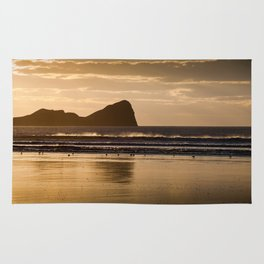 Rhossili beach and Worms Head Rug
