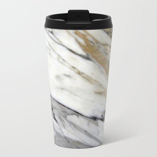 Calacatta Marble Metal Travel Mug