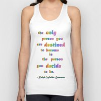 destiny Tank Tops featuring Destiny by Therese Stone
