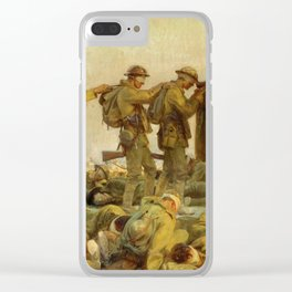 John Singer Sargent - Gassed Detail Clear iPhone Case