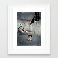 glados Framed Art Prints featuring Glados' Birthday by Melissa Smith