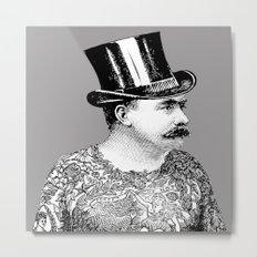 Tattooed Victorian Man Metal Print