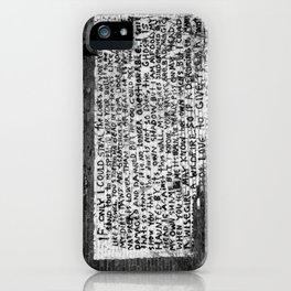 damaged and damned iPhone Case
