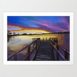 Shelley Bridge Sunset Art Print