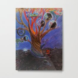 The tree of many worlds Metal Print