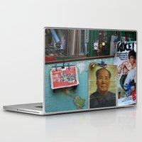 hong kong Laptop & iPad Skins featuring hong kong by Teresa Gabry