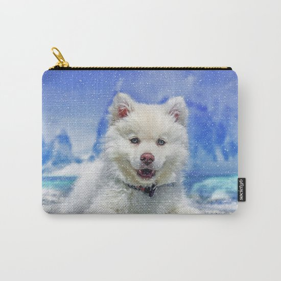 Winter Snowdog Carry-All Pouch