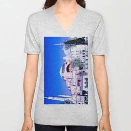 A beautiful museum. Unisex V-Neck