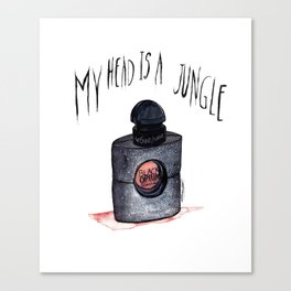 My head is a jungle Canvas Print