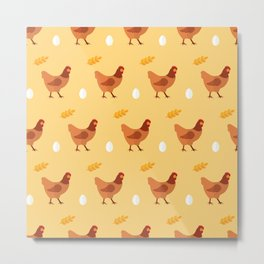 Chickens all around Metal Print