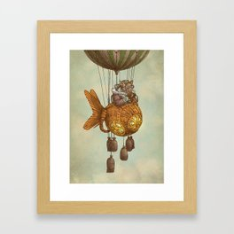 Around the World in the Goldfish Flyer Framed Art Print