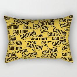 Caution Rectangular Pillow
