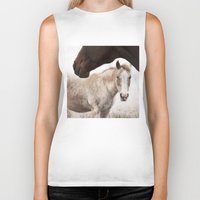 horses Biker Tanks featuring Horses by Ash W