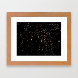 Bright Night Lights 6 Framed Art Print