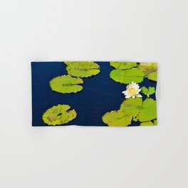 Dark Blue Pond by Teresa Thompson Hand & Bath Towel