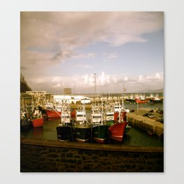 Boats Bobbing in the Blue of the Bay Canvas Print