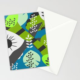 Floral puzzle Stationery Cards
